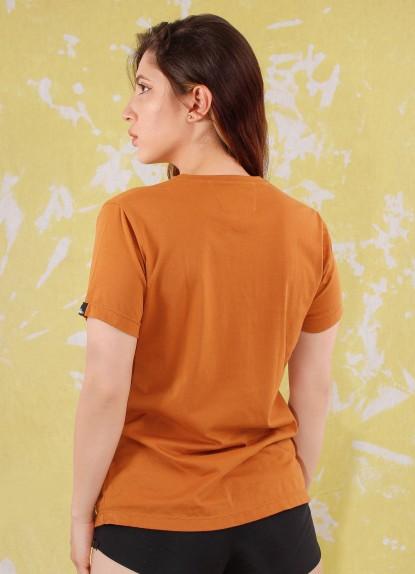 Camiseta de mujer básica Ovni Ocre.
