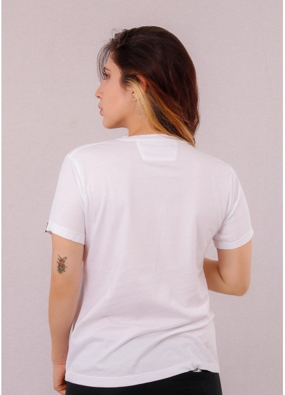 Camiseta de mujer básica Ovni Blanca.