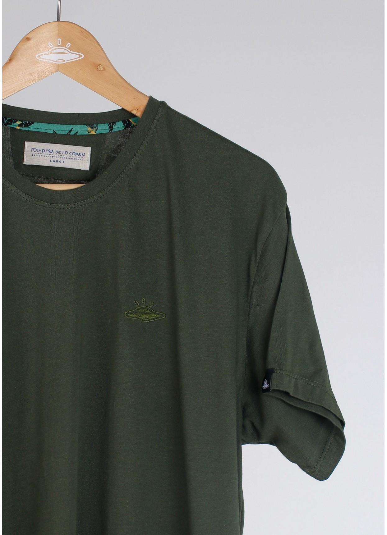 Camiseta básica de hombre Ovni Verde Militar.