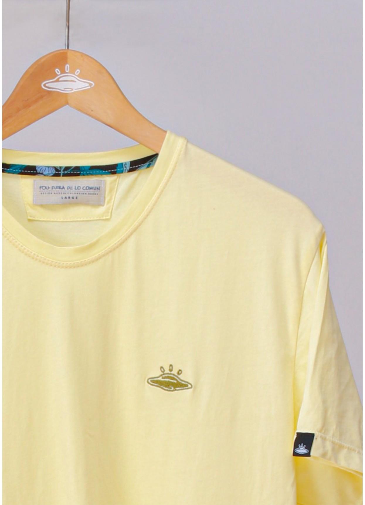Camiseta básica de hombre Ovni Yellow.
