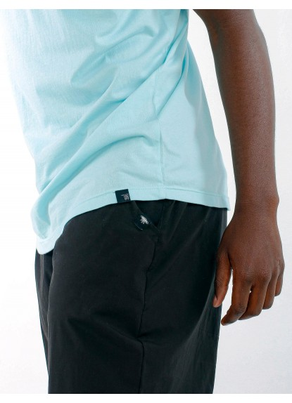 Camiseta básica de hombre Ovni Turquesa.