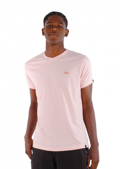 Camiseta básica de hombre Ovni Rosada.
