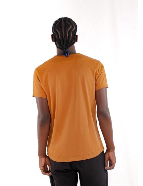 Camiseta de hombre Básica Ocre.