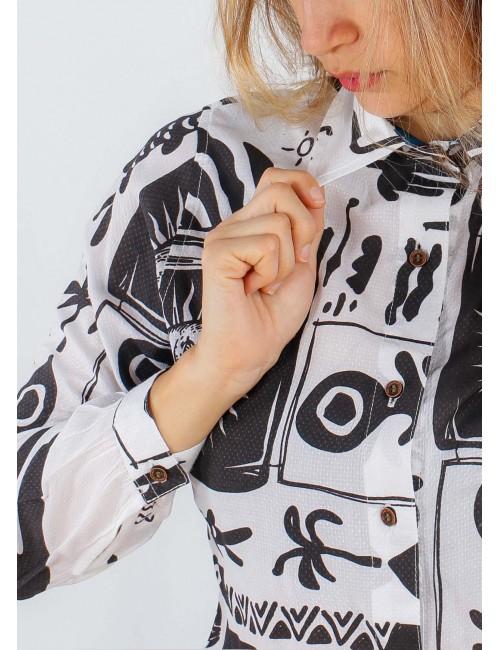 Camisa Stellar para mujer. Hecha a mano en Medellín, Colombia.