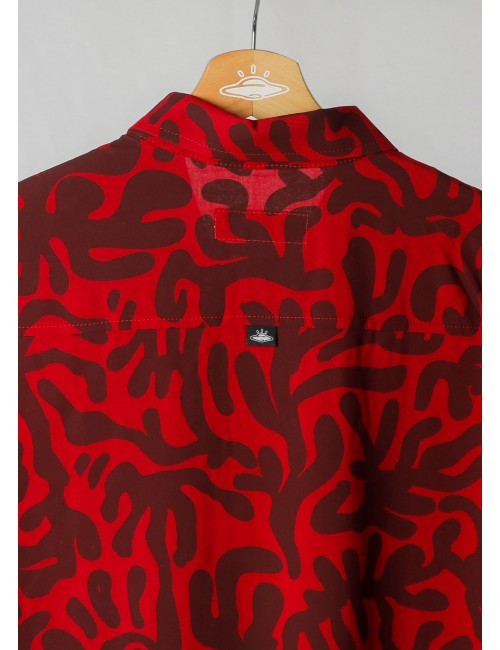 Camisa Cadmía Vinotinto para Hombre