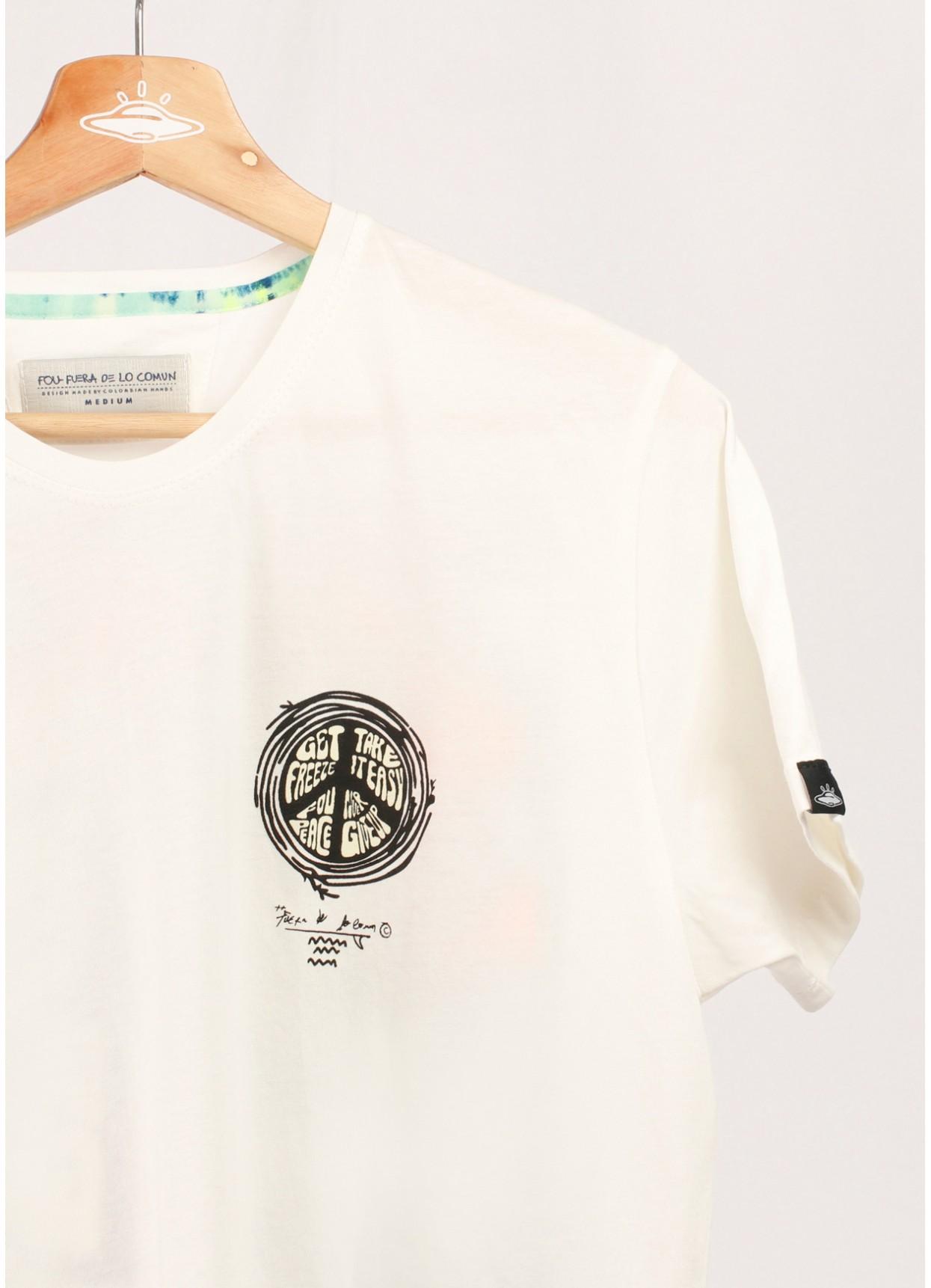 Camiseta cruda Melting para hombre