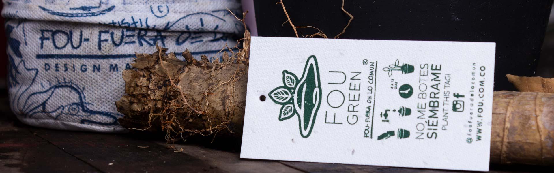 Etiqueta para ser plantada en nuestras bolsas biodegradables